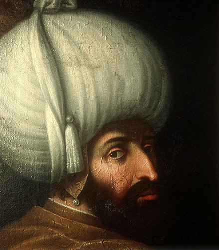 Sultan Beyazid I, 1389-1403, portrait in the Topkapi Palace Museum, Istanbul, Turkey