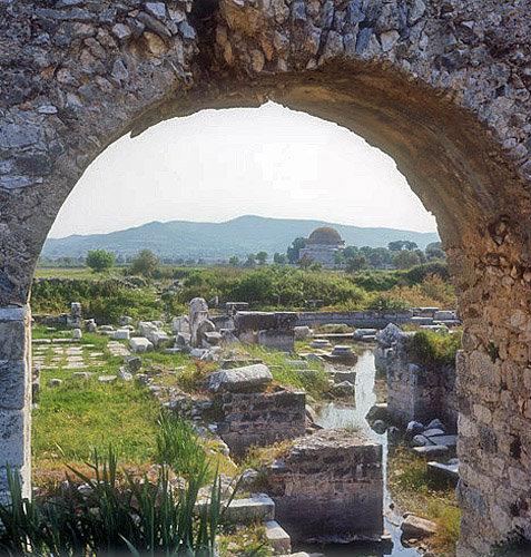 Ilyas Bey Mosque, built circa 1404, Miletus, Turkey