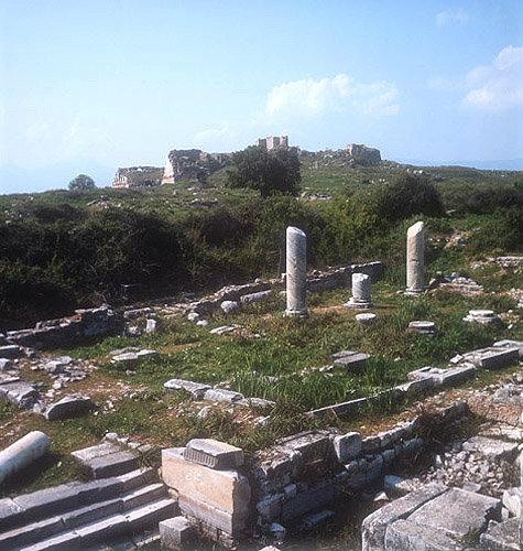 Temple of Serapis third century AD, corner, Miletus, Turkey