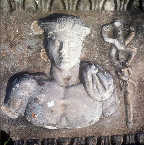 Perseus, relief in Temple of Serapis, third century AD Miletus, Turkey