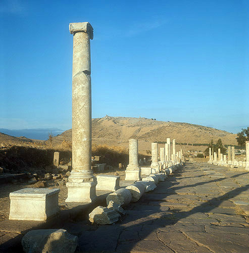 Colonnaded street from Asclepeion to upper city, Pergamum, Turkey