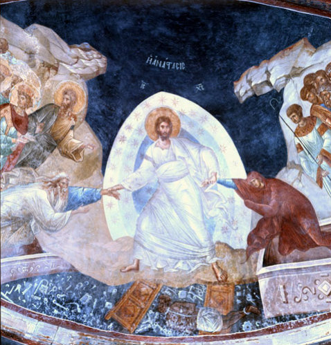 Turkey Istanbul Kariye Camii the Anastasis mural in the apse of the Parecclesion  14th century