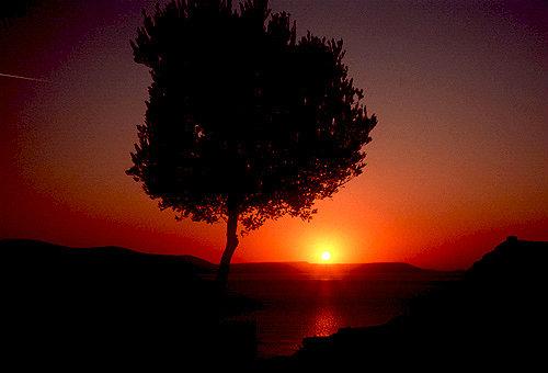 Sunset over Bafu Golu, Lake Bafu National Park, south west Turkey