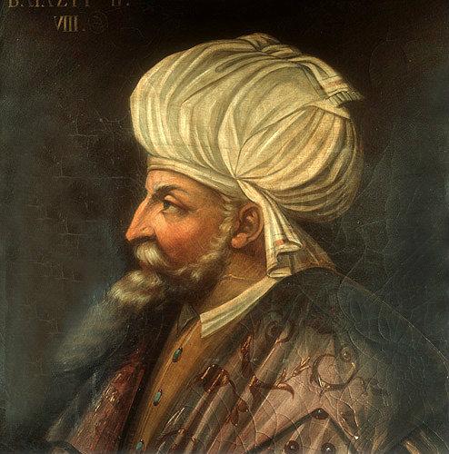 Sultan Beyazid II, 1481-1512, portrait in the Topkapi Palace Museum, Istanbul, Turkey