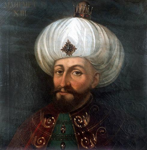 Sultan Mehmed III, 1595-1603, portrait in the Topkapi ...