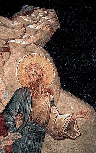 John the Baptist, detail of Anastasis, early fourteenth century, semi dome of apse, Kariye Camii, Istanbul, Turkey