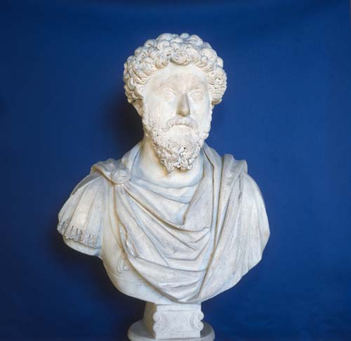 Marcus Aurelius, joint Roman Emperor, 2nd century bust, Archaeological Museum, Istanbul, Turkey