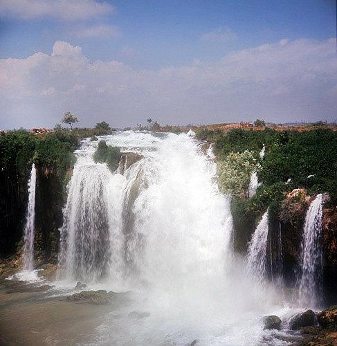 Duden waterfall near Antalya, Turkey