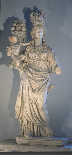 Tyche, 2nd century sculpture, Archaeological Museum, Istanbul, Turkey