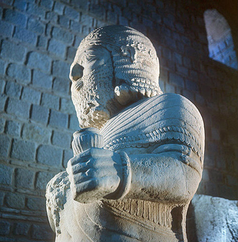 Hittite King from Malatya, 8th century BC sculpture in Ankara Museum, Turkey