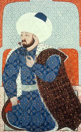 Mehmed II, sixteenth century portrait by Sinan Bey, Topkapi Palace Museum, Istanbul, Turkey