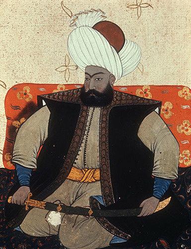 Osman I, 1299-1326, portrait from nineteenth century manuscript no 3109, Topkapi Palace Museum, Istanbul, Turkey