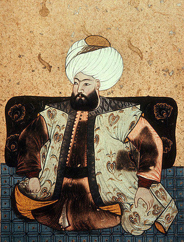 Sultan Mehmed I, 1403-1421, portrait from nineteenth century manuscript no 3109, Topkapi Palace Museum, Istanbul, Turkey