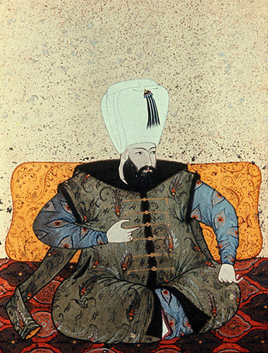 Sultan Ahmed I,  1603-1617, portrait from nineteenth century manuscript no 3109, Topkapi Palace Museum. Istanbul, Turkey