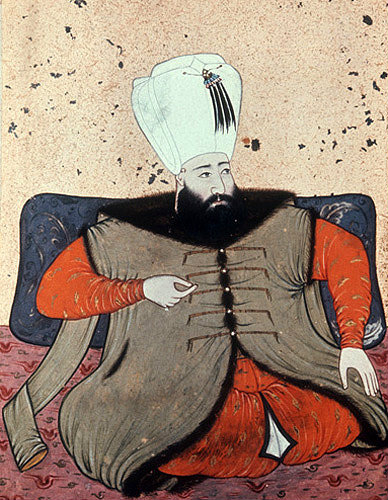 Sultan Ibrahim, 1640-1648, portrait from nineteenth century manuscript no 3109, Topkapi Palace Museum, Istanbul, Turkey