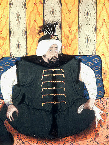 Sultan Mehmed IV, 1648-1687, portrait from nineteenth century manuscript no 3109, Topkapi Palace Museum, Istanbul, Turkey