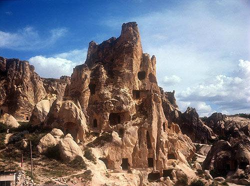 Rock-cut monastery, Goreme Valley, Cappadocia, Turkey