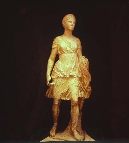 Diana the huntress, Roman sculpture, Ephesus, Turkey