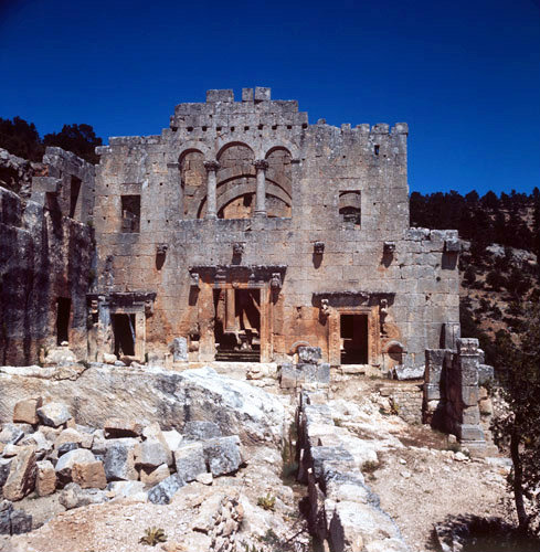 Turkey Alahan Monastery the Western facade of the Eastern ...