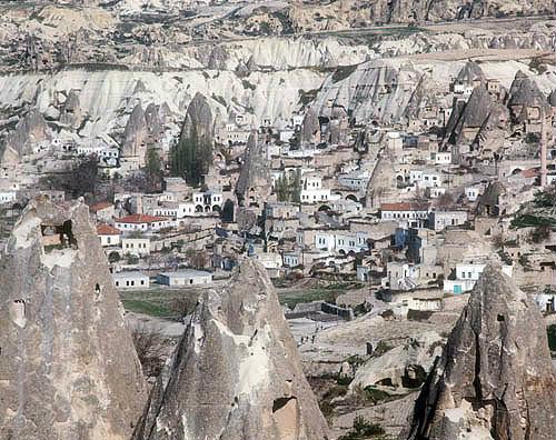 Cone dwellings, Avcilar near Goreme, Cappadocia, Turkey