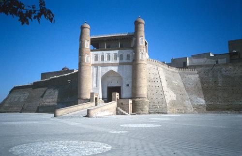 Uzbekistan, Bukhara, gateway to the citadel