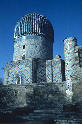 Uzbekistan, Samarkand Gur Emir Mausoleum, tomb of Timur, central Asian emperor known as Tamburlaine the Great