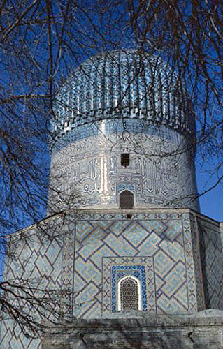 Uzbekistan, Samarkand, Gur Emir mausoleum, tomb of Timur, central Asian emperor known as Tamburlaine the Great