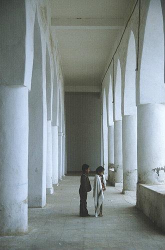 Great Mosque, seventh century, interior, Al Janad, Yemen
