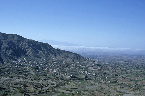 Mountains between Al Janad and Jibla, Yemen