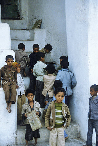 Koran school in Great Mosque, Al Janad, Yemen