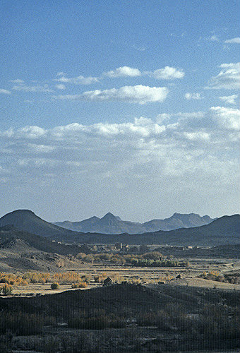 View south of mosque, El Abbas, Yemen