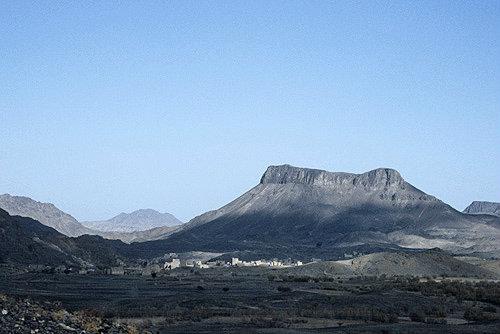 View north of  mosque, El Abbas, Yemen
