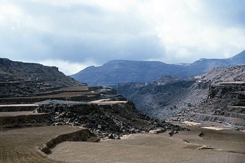 Terracing in the mountains, Yemen