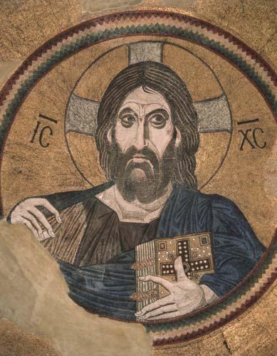 Christ Pantocrator, 11th century mosaic, Daphni, Greece