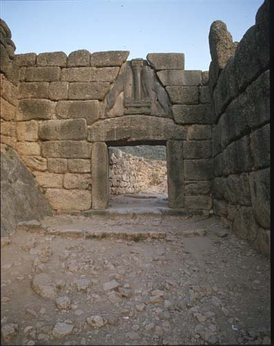 Lion Gate, 14th century BC, Mycenae, Greece