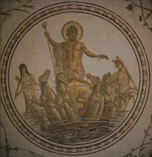 Neptune, 2nd century mosaic, Bardo Museum, Tunis, Tunisia