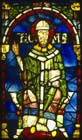 Thomas  Becket, 12th century stained glass, Trinity Chapel, Canterbury Cathedral, Kent, England, Great Britain