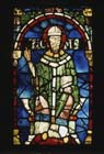 St Thomas Becket, 12th century stained glass, Trinity Chapel, Canterbury Cathedral, Kent, England, Great Britain