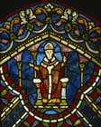 St Thomas Becket, stained glass, Trinity Chapel, Canterbury Cathedral, Kent, England, Great Britain