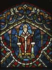 St Thomas Becket, 13th century stained glass, Trinity Chapel, Canterbury Cathedral, Kent, England, Great Britain