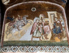 Turkey, Istanbul, Kariye Camii, Journey of the Magi and the Magi before Herod 14th century mosaic