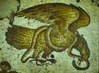 Eagle attacking a serpent, 6th century mosaic, Great Palace Mosaic Musuem, Istanbul, Turkey