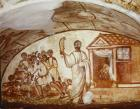 Samson puts the Philistines to rout, 4th century early Christian wall painting, Catacombs of the Via Latina, Rome, Italy