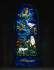 Christmas window by John Piper, church of St Mary the Virgin, Iffley, Oxfordshire, England