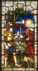 Balaam prophesying,  window 24, twentieth century,  St Edmundsbury Cathedral, Bury St Edmunds, Suffolk, England