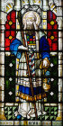 Aaron, panel in window 27, twentieth century, St Edmundsbury Cathedral,  Bury St Edmunds, Suffolk, England