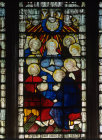 Pentecost window 11 south aisle St Edmundsbury Cathedral 19th century