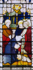 Matthias chosen to replace Judas Iscariot as Apostle window 11 St Edmundsbury Cathedral