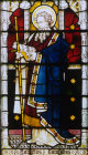 St Barnabas window 10 S aisle St Edmundsbury Cathedral 19th century