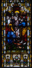 St Paul preaching on the Areopagus in Athens window 12 south aisle St Edmundsbury Cathedral 19th century